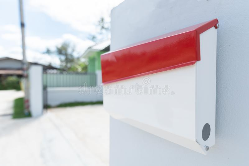 Mailbox of Home office.mail slot or mailbox is a receptacle for receiving incoming mail at a private residence or business.  royalty free stock photo