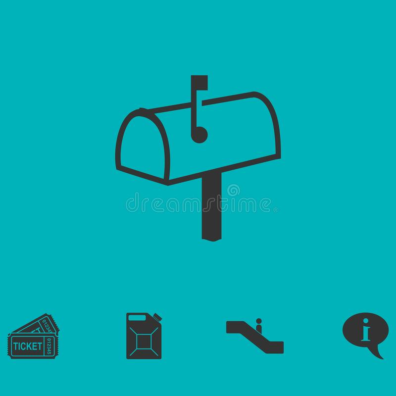 Mailbox icon flat vector illustration