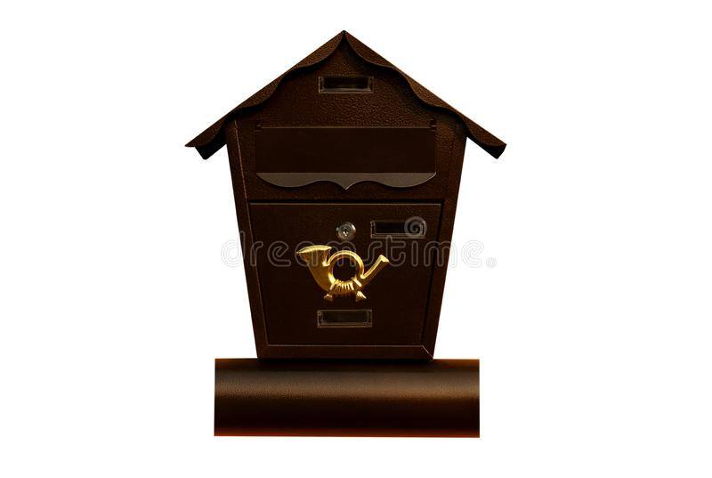 Mailbox isolated on white background.  royalty free stock images