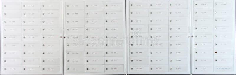 Mailbox locker stock images