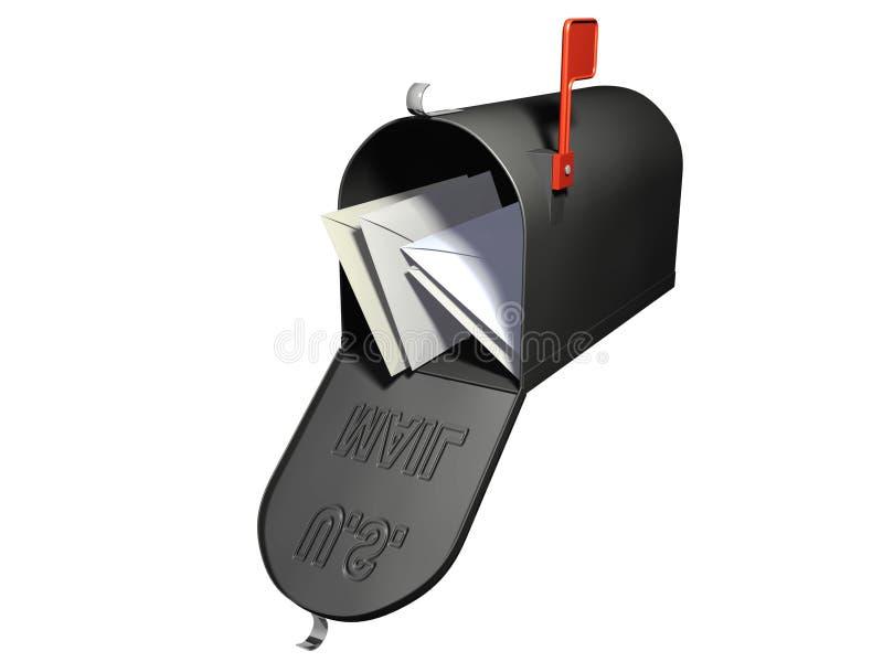 Mailbox mit Zeichen lizenzfreie abbildung