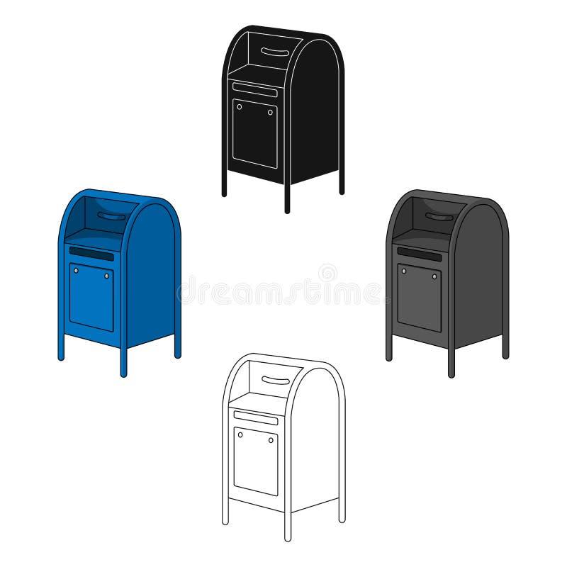 mailbox O único ícone do correio e do carteiro nos desenhos animados denomina a Web da ilustração do estoque do símbolo do vetor ilustração royalty free