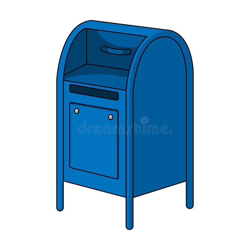mailbox O único ícone do correio e do carteiro nos desenhos animados denomina a Web da ilustração do estoque do símbolo do vetor ilustração stock