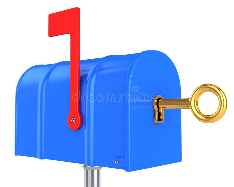 Mailbox-Sicherheitskonzept lizenzfreie abbildung