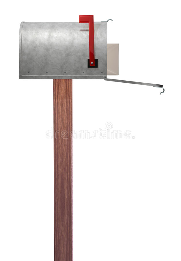 Mailbox side view stock image Image of envelope galvanized 1584253