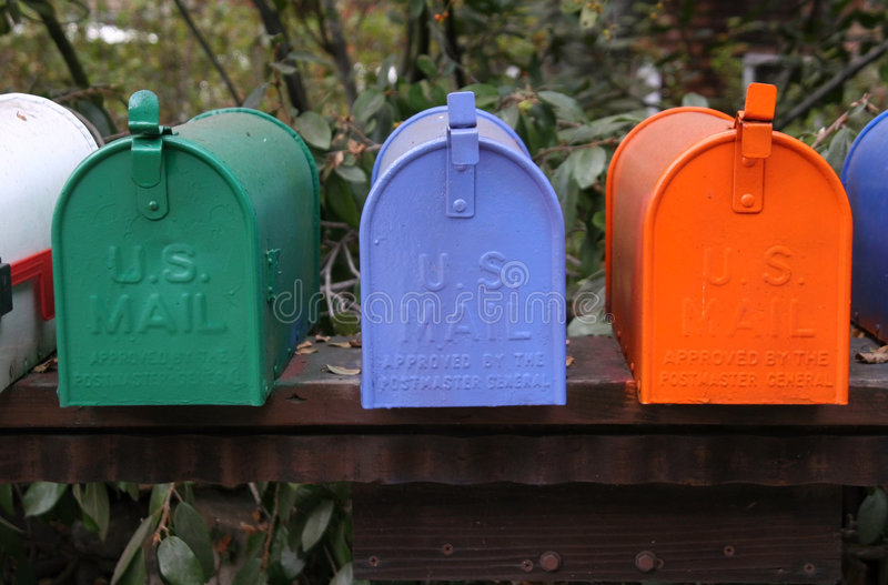 Download Mailbox Trio stock image. Image of parcel, postman, stamp - 267275
