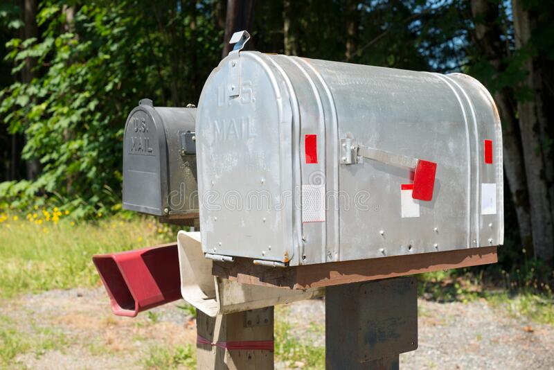 Mailbox in the United States stock photo