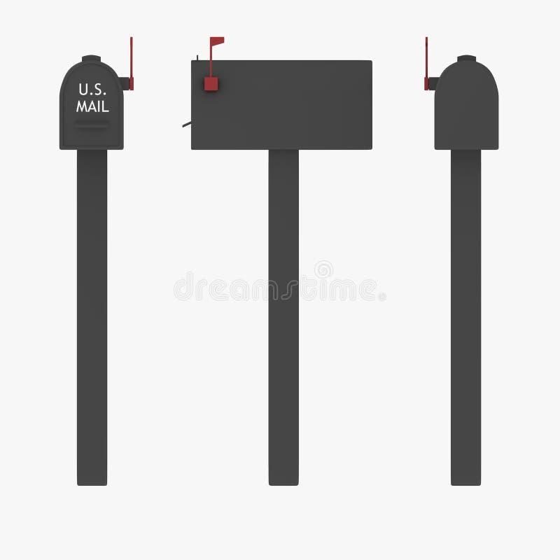Mailbox - US-Typ stock abbildung