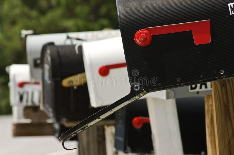 Mailboxes lizenzfreie stockfotos