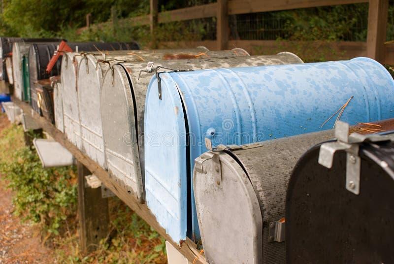 Mailboxes stockfotos