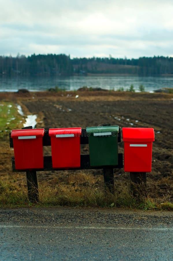 Mailboxes stockfoto