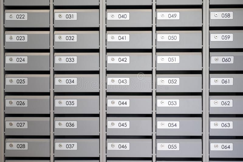 Mailboxes In The Apartment With The Numbers Stock Photo - Image of ...