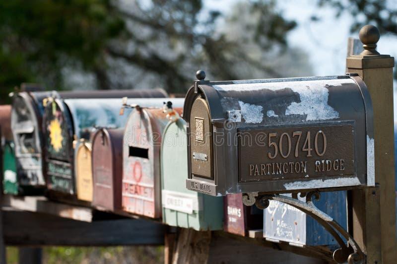 Mailboxes in großem Sur lizenzfreie stockbilder