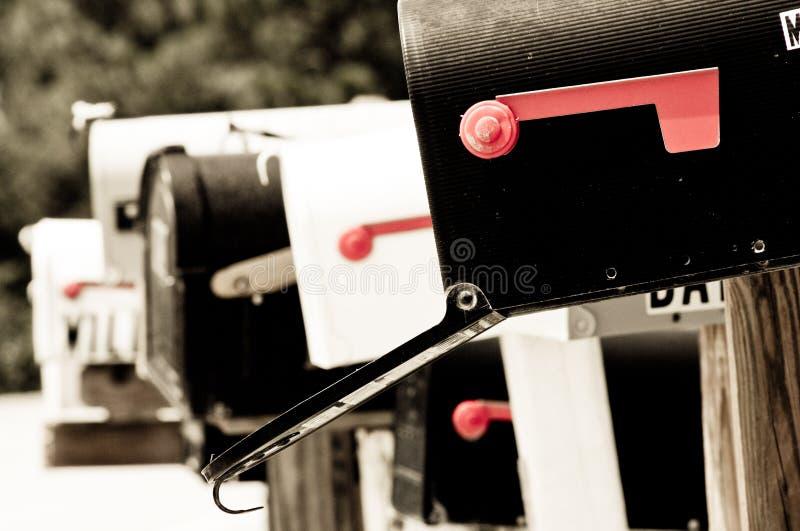 Mailboxes II stockbilder