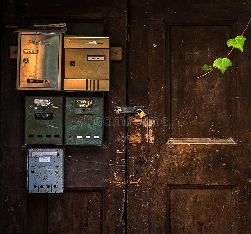 mailboxes kroatien lizenzfreie stockfotos