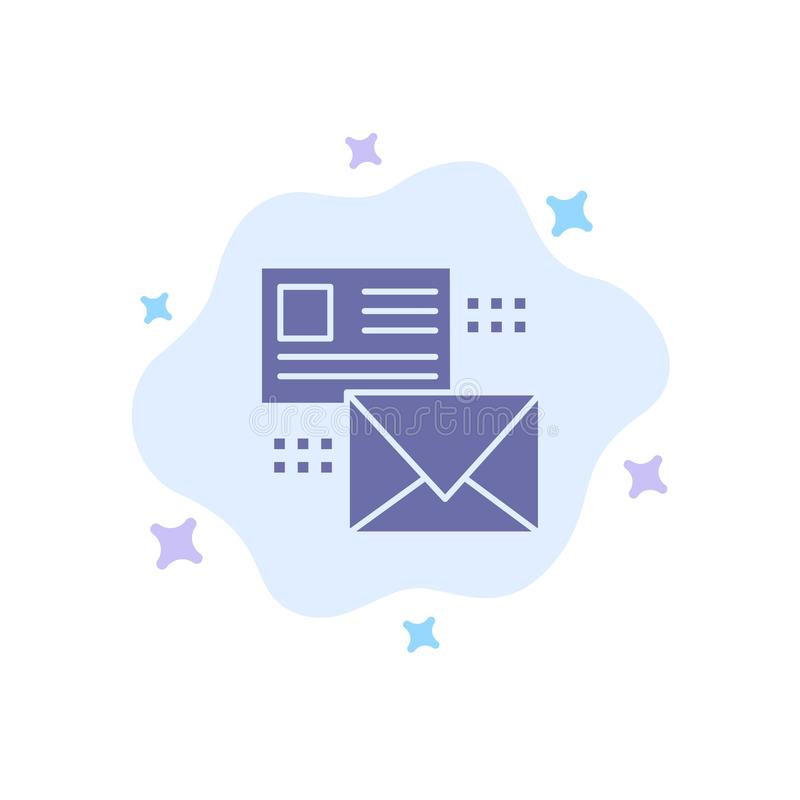 Mailing, Conversation, Emails, List, Mail Blue Icon on Abstract Cloud Background stock illustration