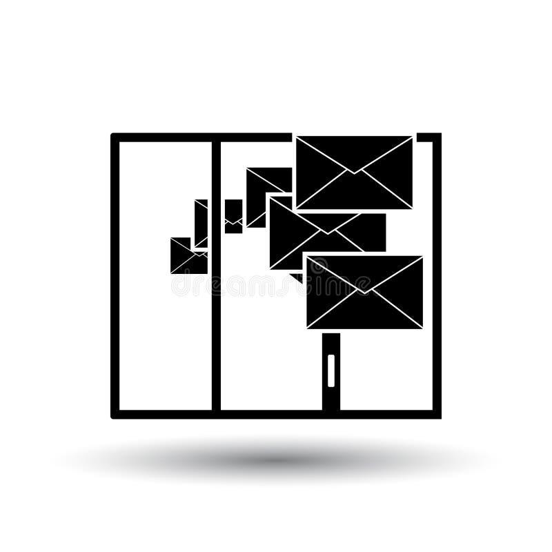 Mailing Icon stock illustration