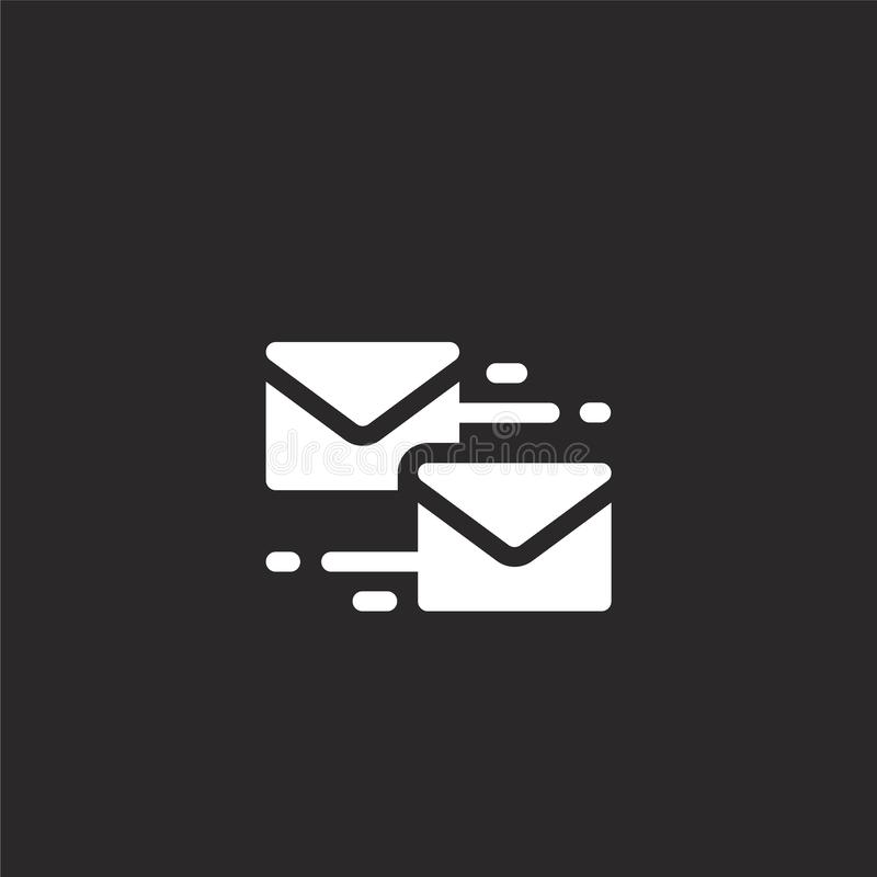 mailing icon. Filled mailing icon for website design and mobile, app development. mailing icon from filled marketing collection royalty free illustration