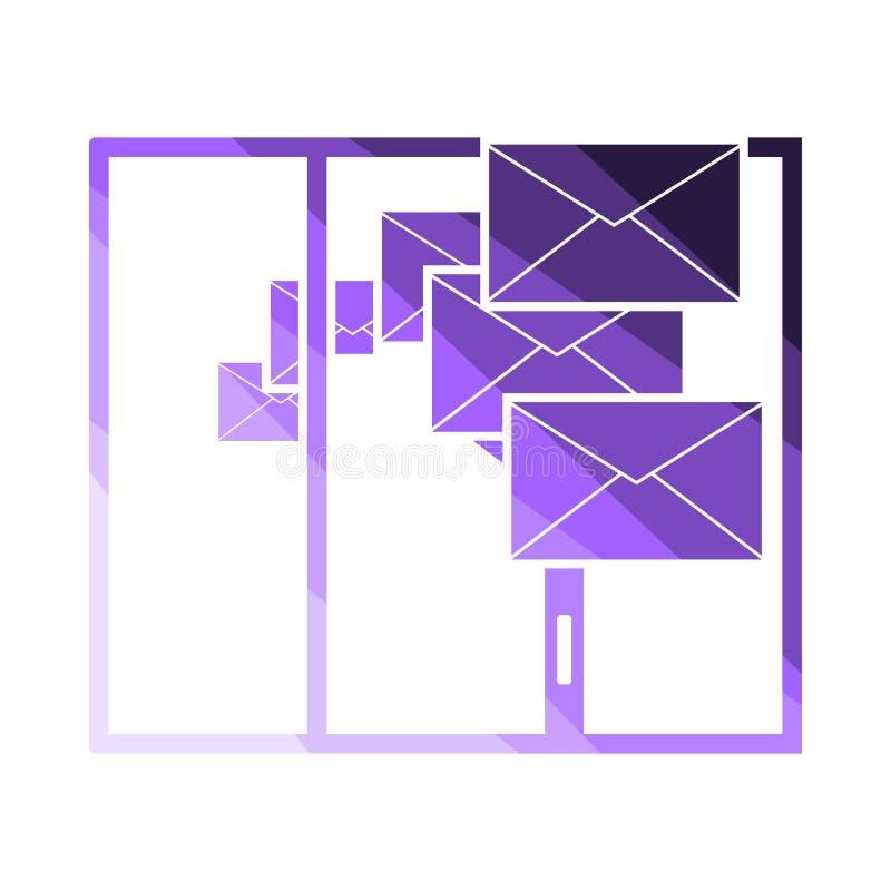 Mailing Icon royalty free illustration