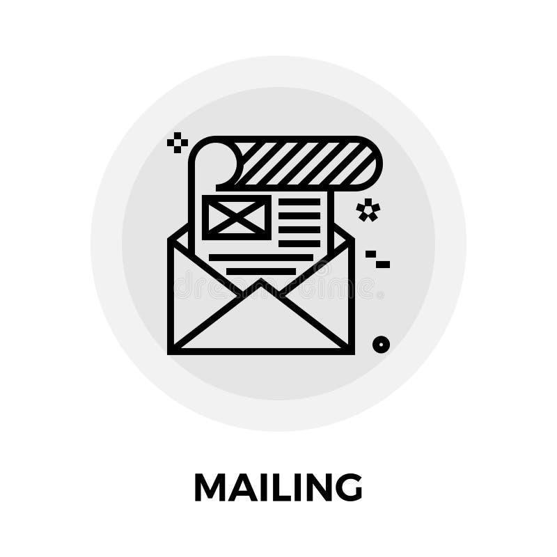 Mailing icon flat. Mailing icon vector. Flat icon isolated on the white background. Editable EPS file. Vector illustration stock illustration