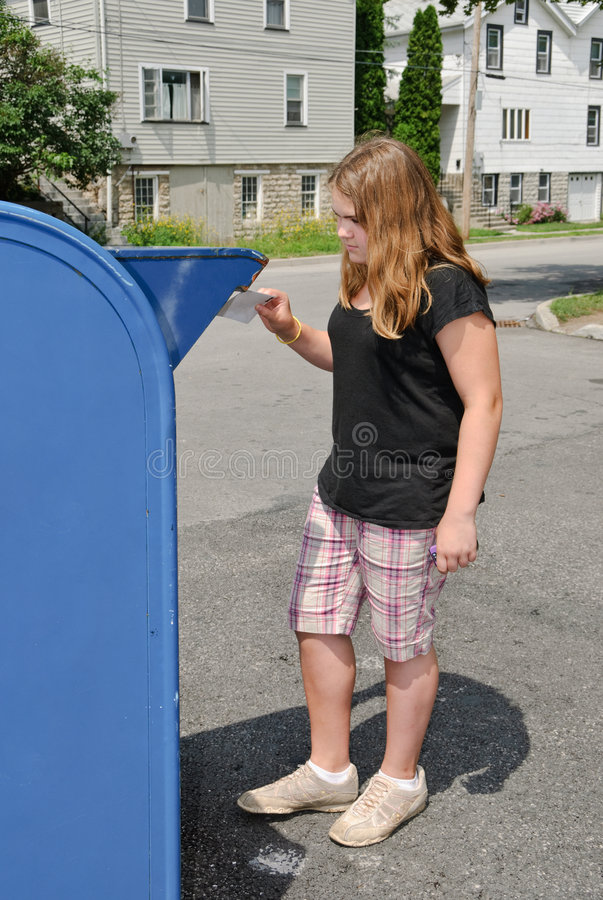 Download Mailing Letter stock photo. Image of people, tween, posting - 7852108