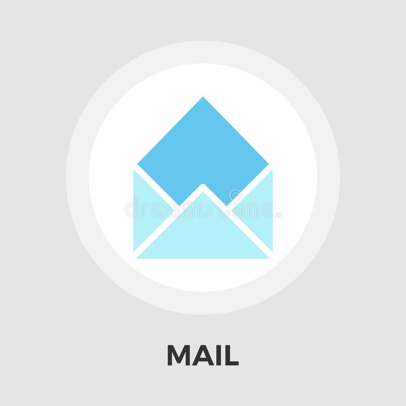 Mailing Line Icon. Mailing icon vector. Flat icon isolated on the white background. Editable EPS file. Vector illustration royalty free illustration