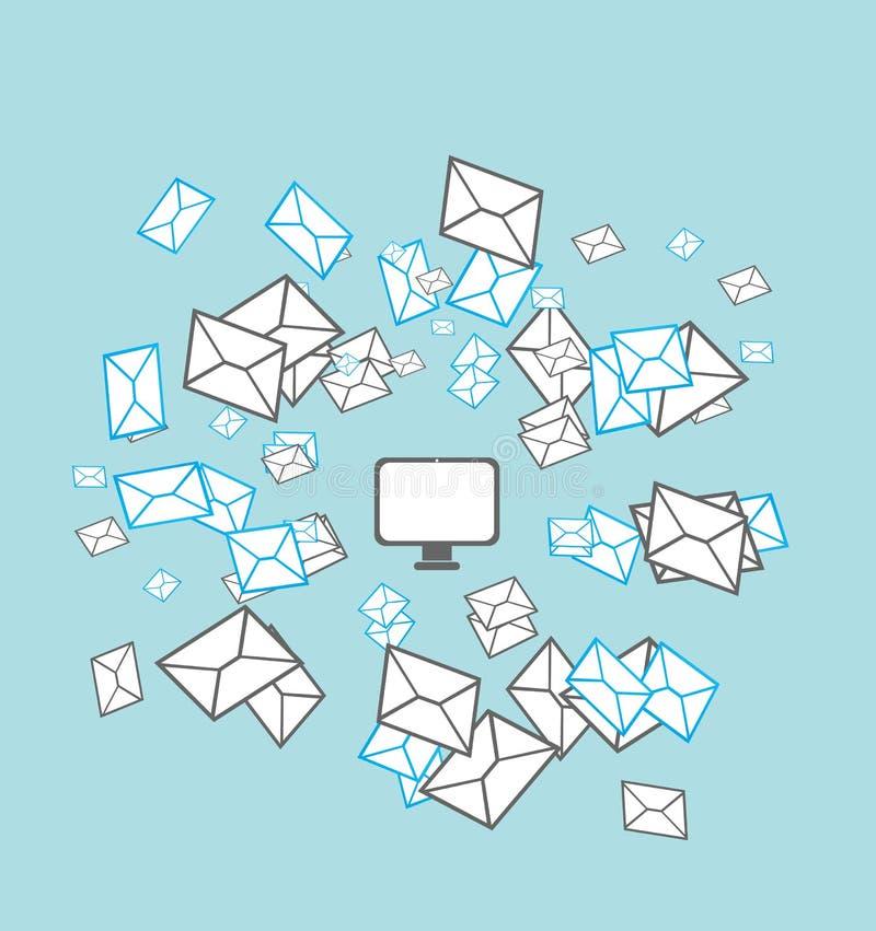 Mailing list concept royalty free illustration