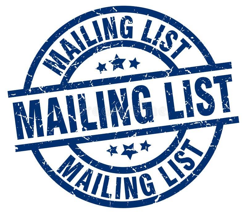 Mailing list stamp. Mailing list grunge vintage stamp isolated on white background. mailing list. sign vector illustration
