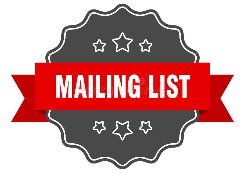mailing list label stock illustration
