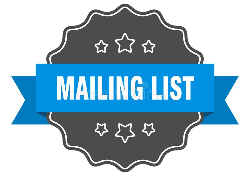mailing list label stock illustration