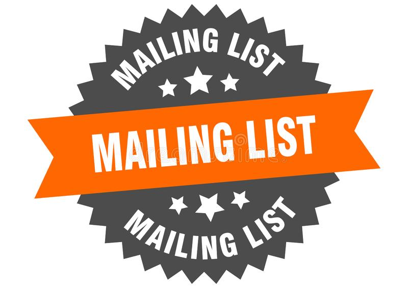 mailing list royalty free illustration