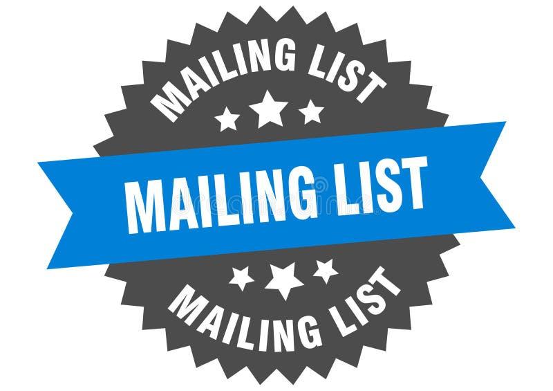 mailing list vector illustration
