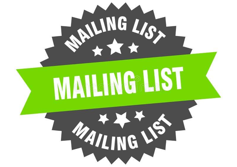 mailing list stock illustration