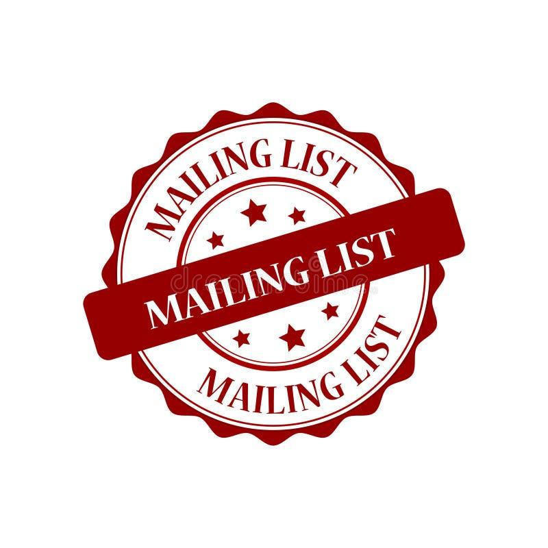 Mailing list stamp illustration. Mailing list red stamp seal illustration design vector illustration