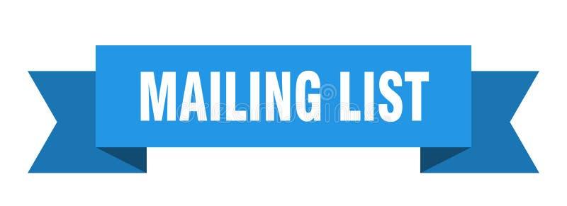 Mailing list ribbon. Mailing list banner. sign. mailing list vector illustration