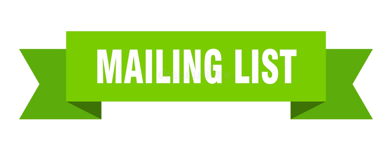 Mailing list ribbon. Mailing list banner. sign. mailing list royalty free illustration