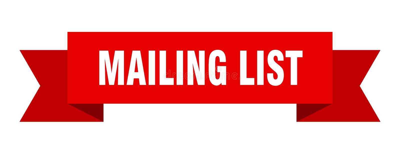 Mailing list ribbon. Mailing list banner. sign. mailing list stock illustration