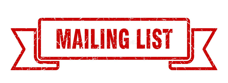 Mailing list ribbon. Mailing list vintage sign. banner. mailing list stock illustration