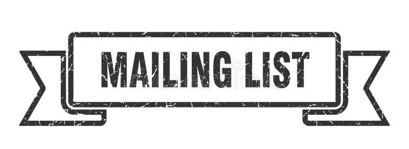 Mailing list ribbon. Mailing list vintage sign. banner. mailing list royalty free illustration