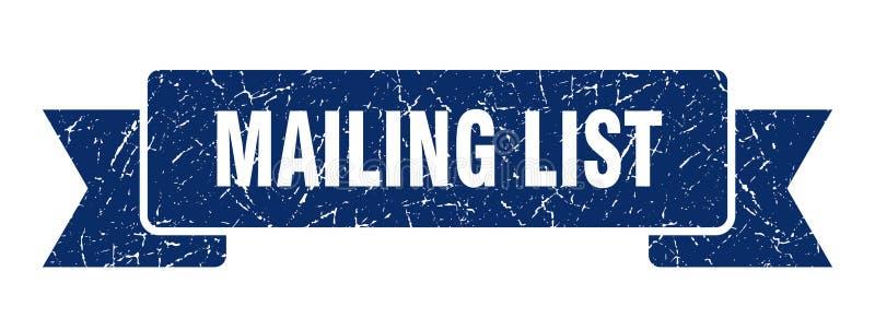 Mailing list ribbon. Mailing list vintage sign. banner. mailing list vector illustration