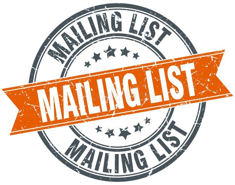 Mailing list stamp. Mailing list round grunge vintage ribbon stamp. mailing list vector illustration