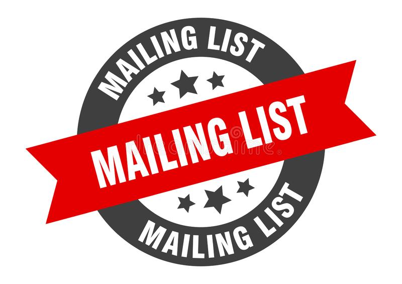 mailing list sign stock illustration