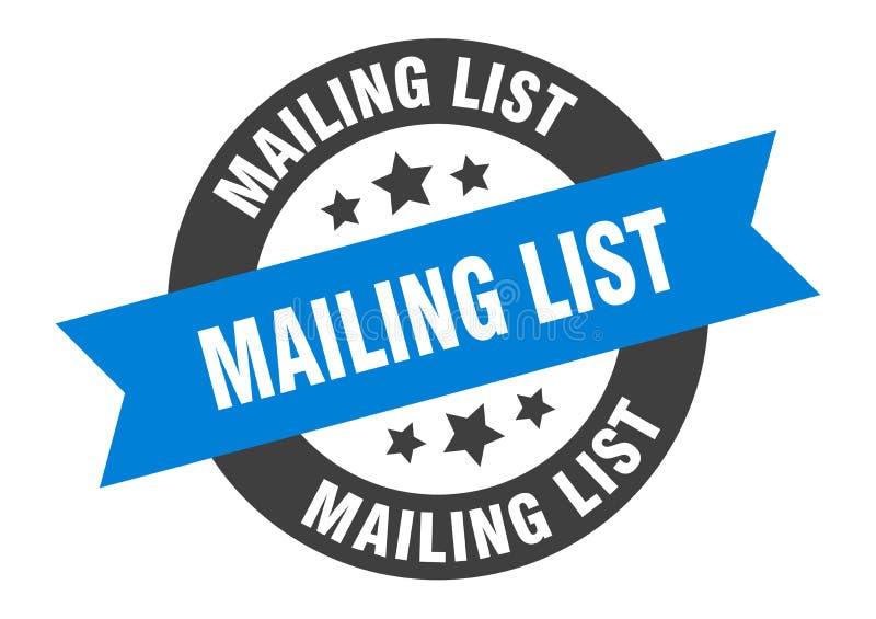 mailing list sign royalty free illustration