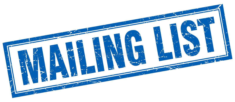 Mailing list stamp. Mailing list square grunge stamp. mailing list sign. mailing list royalty free illustration