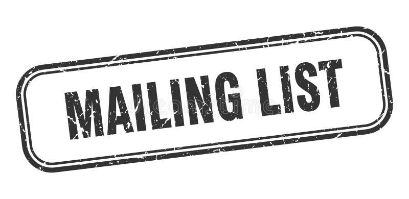 mailing list stamp stock illustration