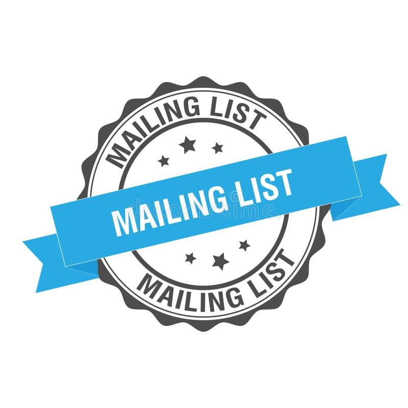 Mailing list stamp illustration. Mailing list stamp seal illustration design stock illustration