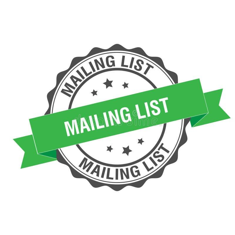 Mailing list stamp illustration. Mailing list stamp seal illustration design royalty free illustration