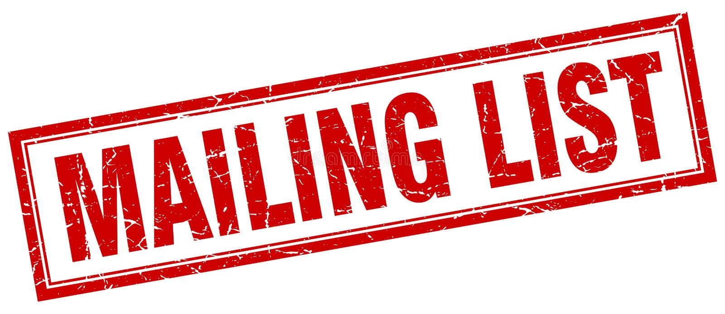 Mailing list stamp. Mailing list square grunge stamp. mailing list sign. mailing list stock illustration