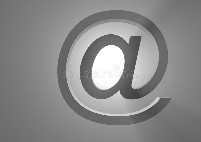 Mailing Symbol. At in backlight royalty free illustration