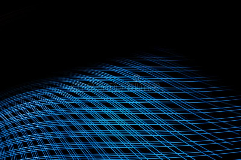 Maille abstraite bleue sur le dos noir Fond g?om?trique ?l?gant illustration libre de droits